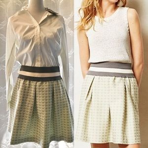 Anthropologie Maeve Seren Pattern Skater Skirt